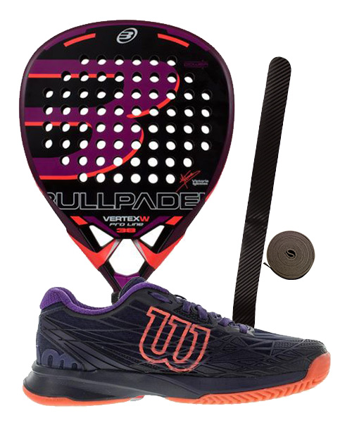 PACK BULLPADEL VERTEX 2 WOMAN Y ZAPATILLAS WILSON ASTRAL