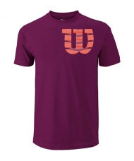 CAMISETA WILSON SHOULDER COTTON TEE VINO Y CORAL