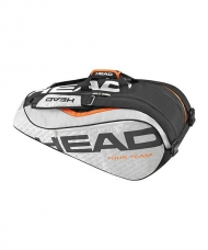 RAQUETERO HEAD TOUR TEAM 9R SUPERCOMBI NEGRO GRIS