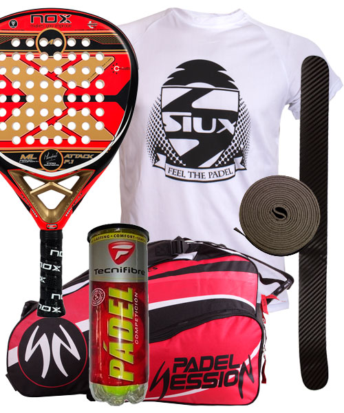 PACK NOX ML ATTACK PRO P.1 Y PALETERO PADEL SESSION