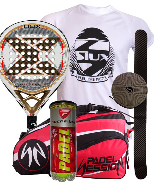 PACK NOX ML10 PRO P.1 Y PALETERO PADEL SESSION